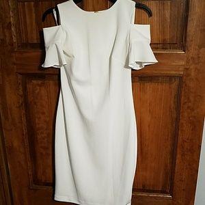 Fitted Cold Shoulder Dress